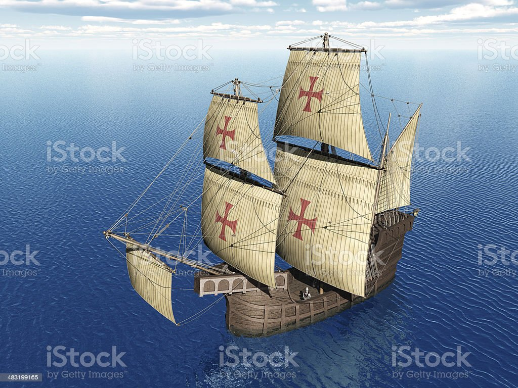 Portuguese Caravel stock photo