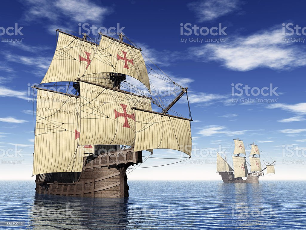 Portuguese Caravels stock photo