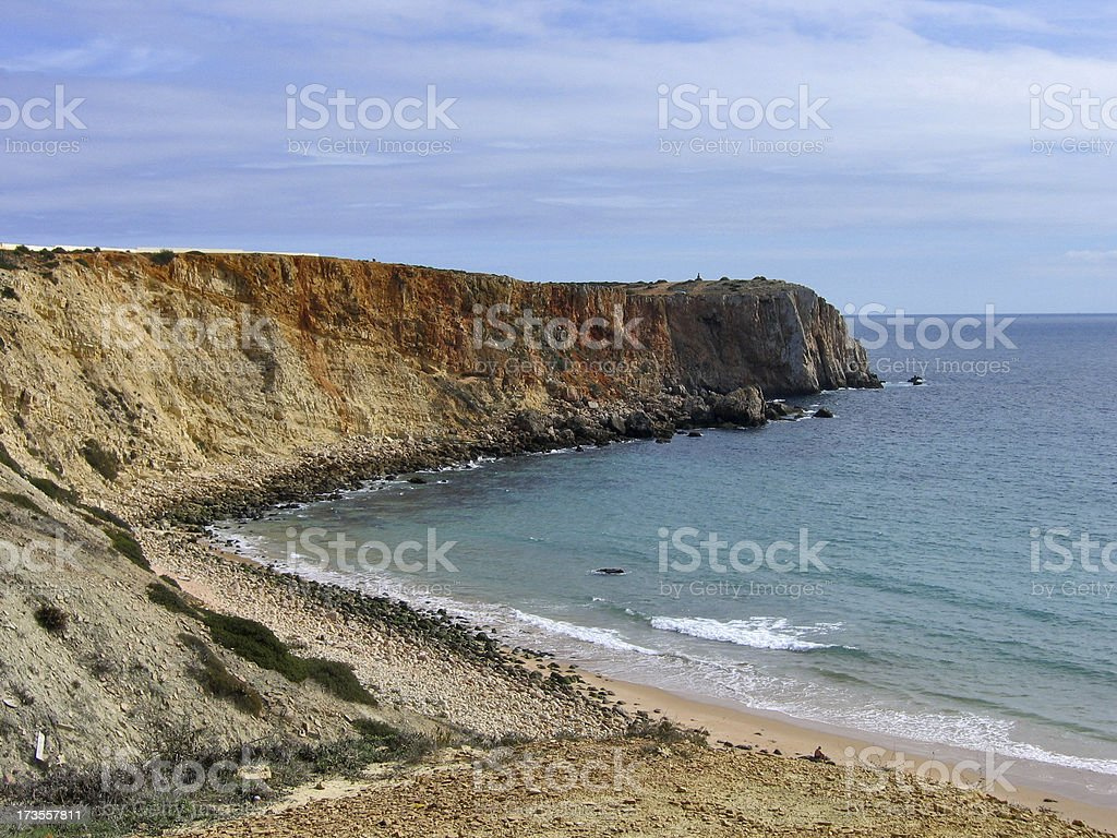 Portuguese Coast Cliffs royalty-free stock photo