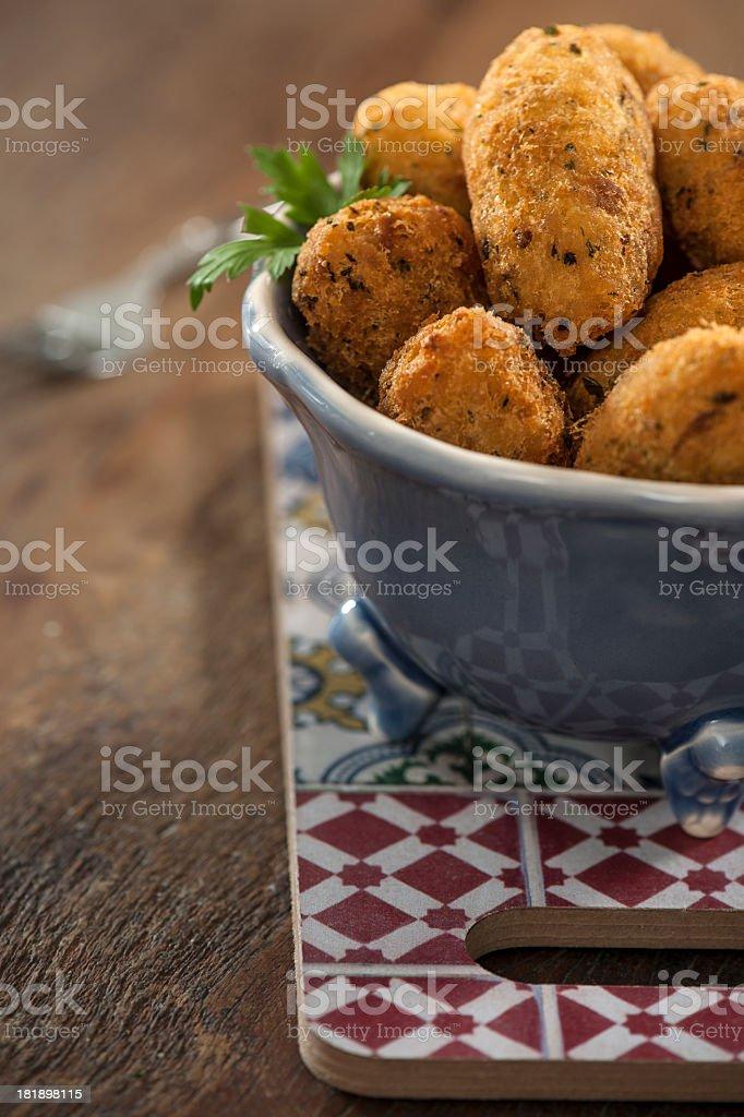 Portuguese codfish cakes royalty-free stock photo