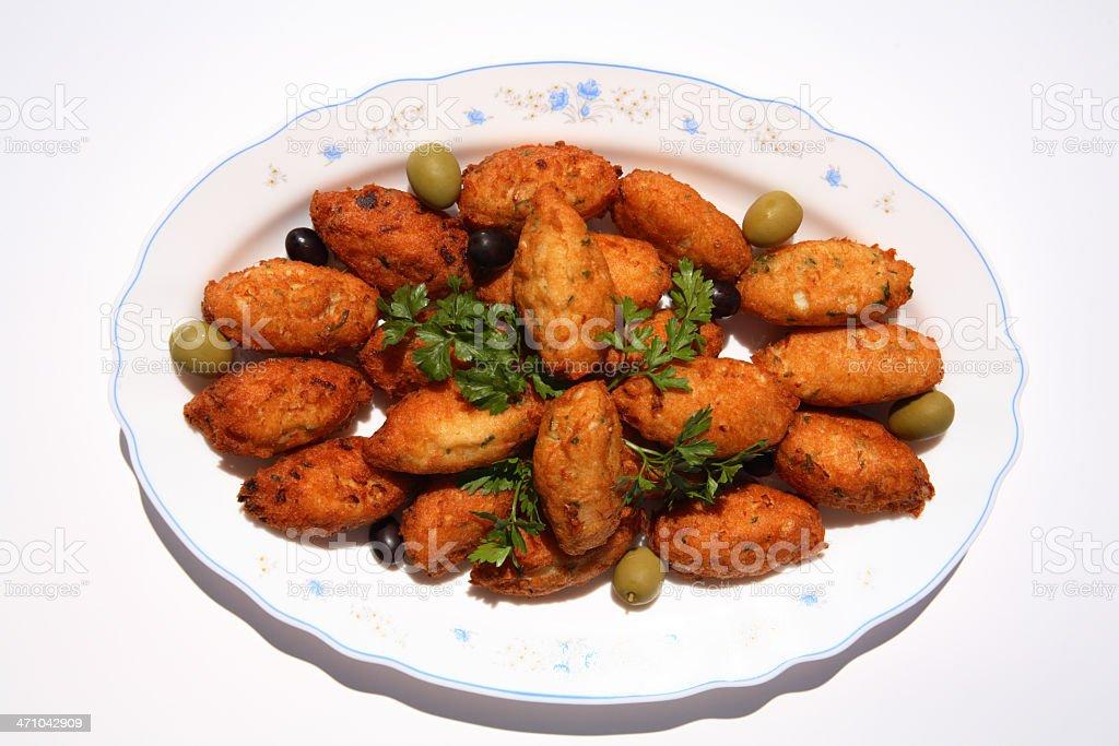 """Portuguese Codfish """"cakes"""" royalty-free stock photo"""