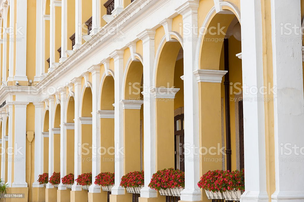 portuguese colonial architecture stock photo