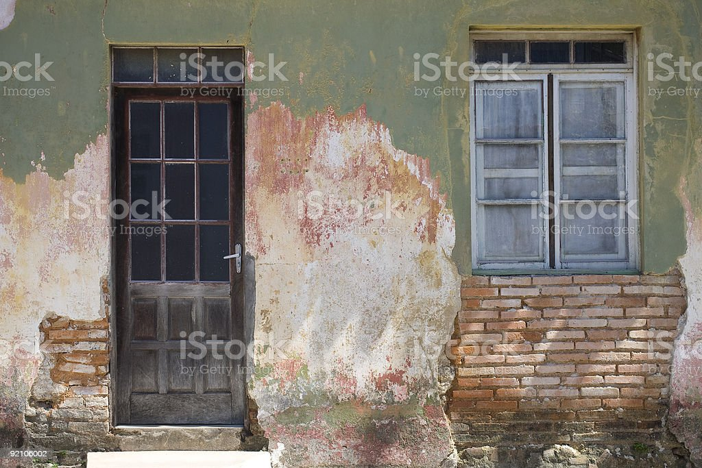 Portuguese Door and Window royalty-free stock photo