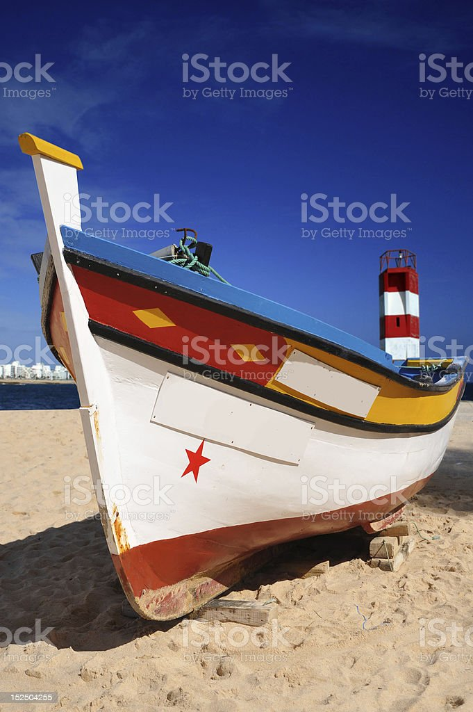 Portuguese Fishing Boat stock photo