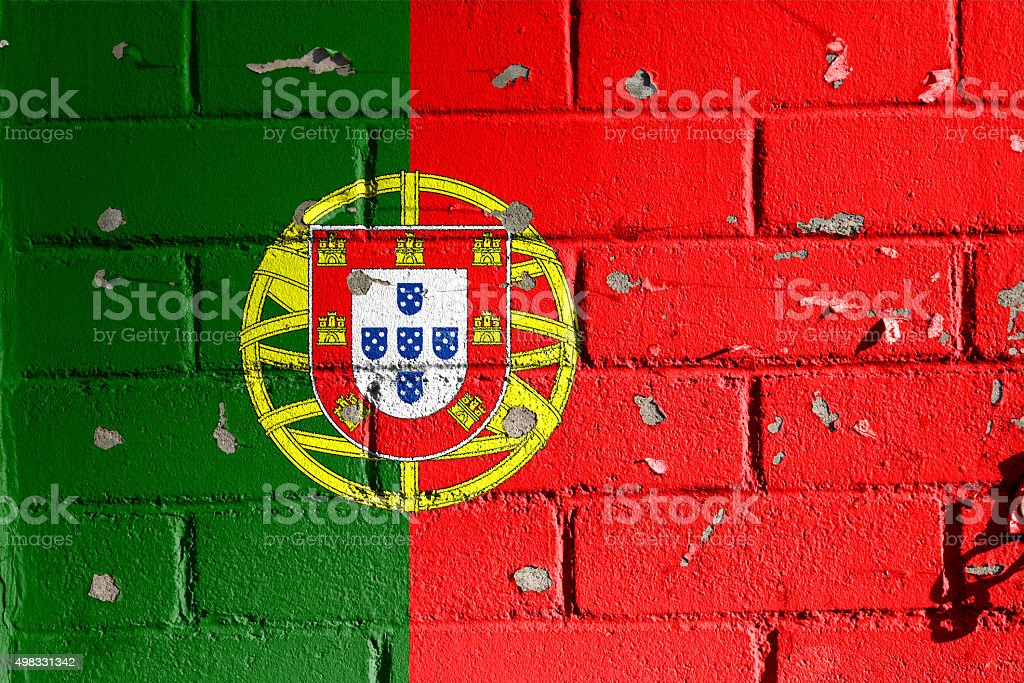 Portuguese flag. stock photo