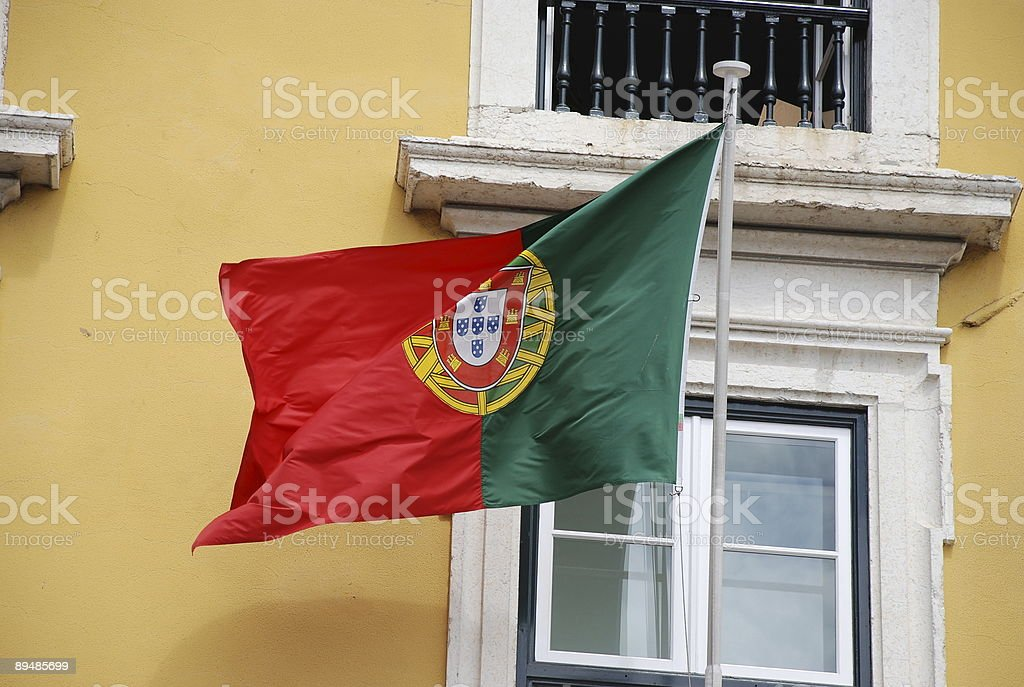 portuguese flag royalty-free stock photo