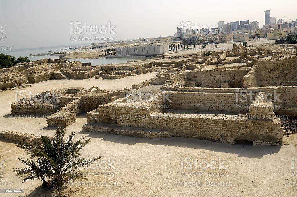 Portuguese Fort in Manama stock photo