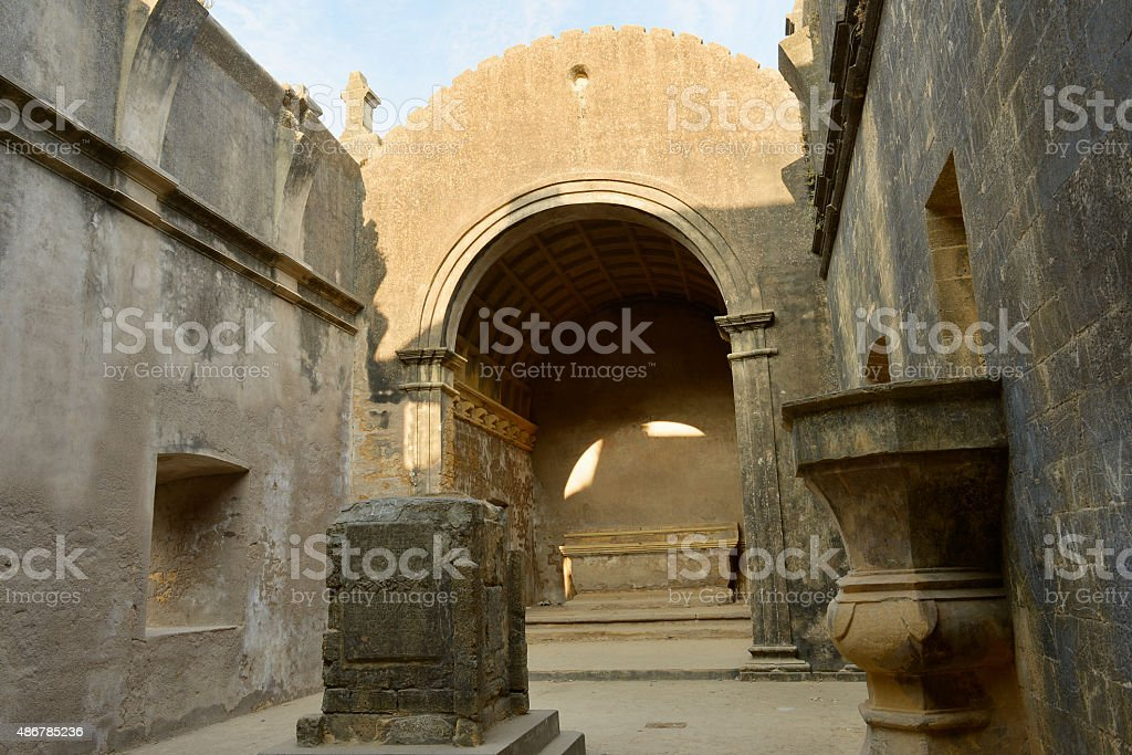 Portuguese fort in the Diu stock photo