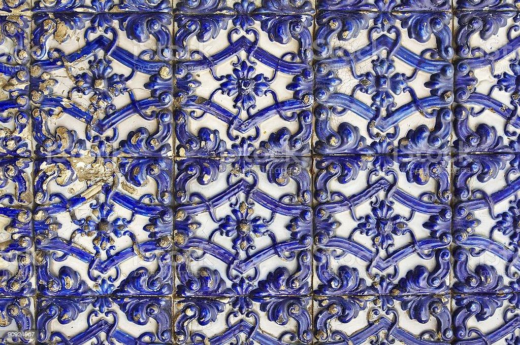 Portuguese glazed tiles royalty-free stock photo
