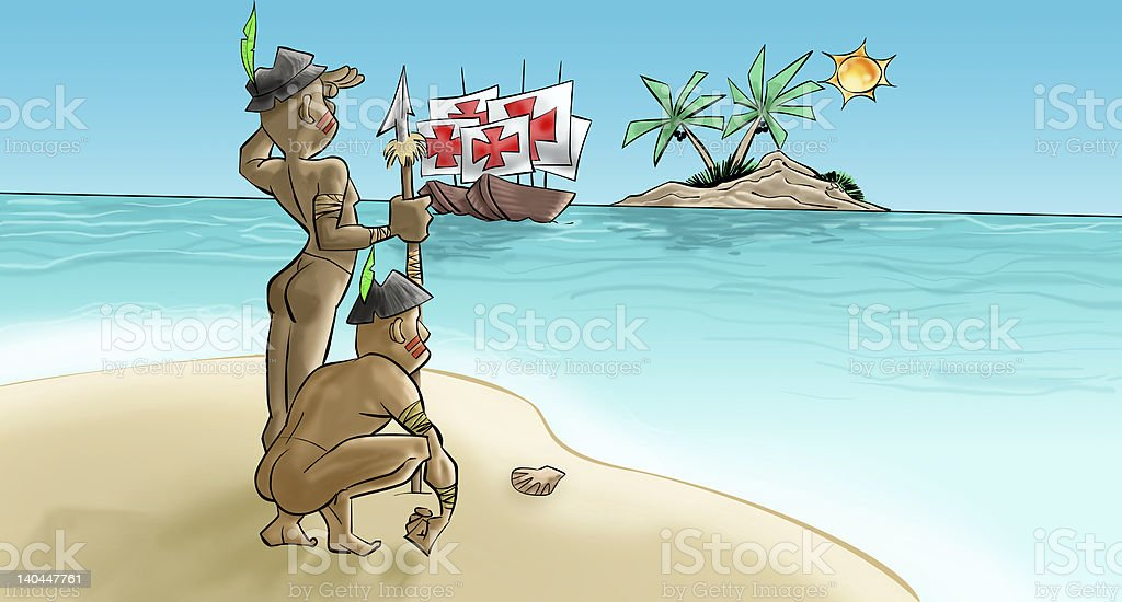 Portuguese have arrived royalty-free stock photo