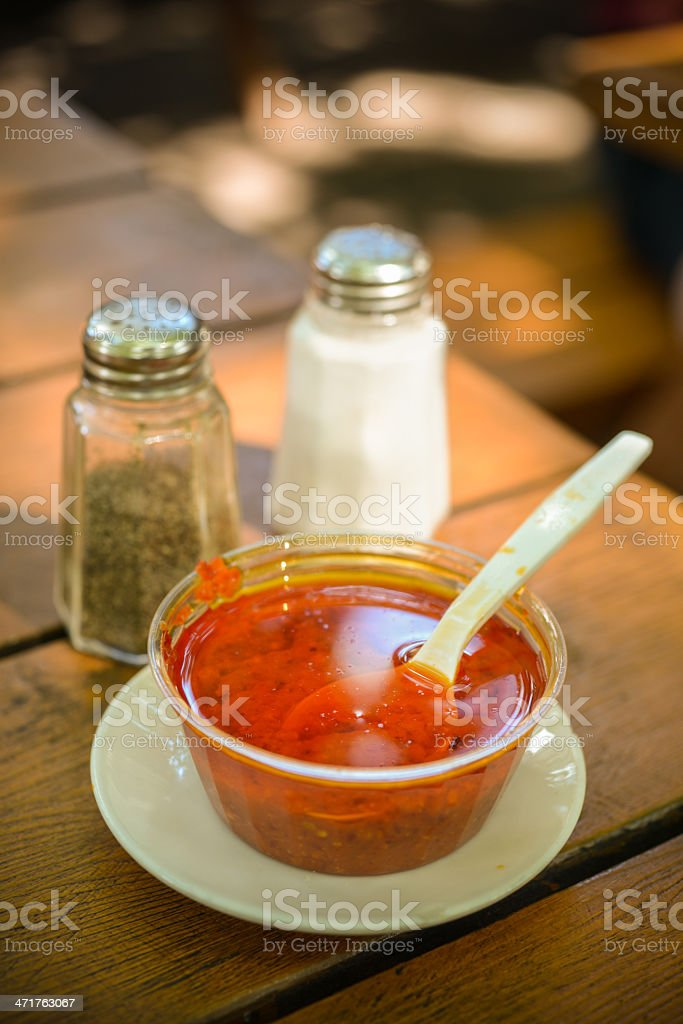 Portuguese Hot Sauce royalty-free stock photo