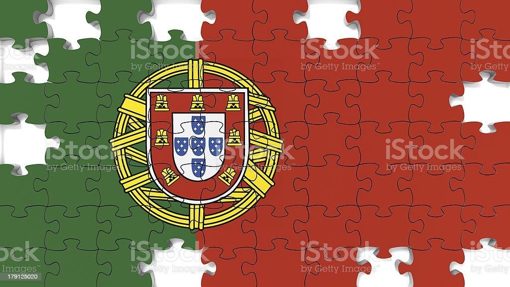 Portuguese National Flag royalty-free stock photo