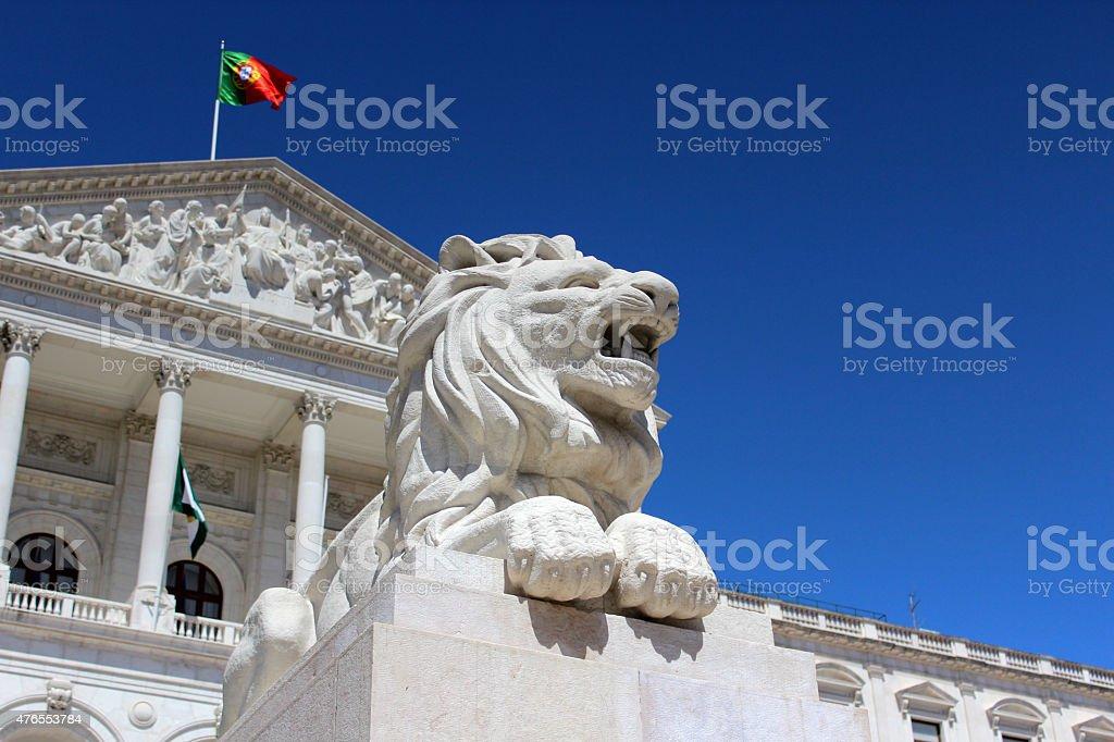 Portuguese Parliament Building, Pal?cio da Asembleia da Rep?blica, Lisbon, Portugal stock photo