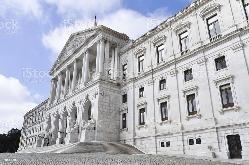 Portuguese Parliament, Lisbon (Portugal) stock photo