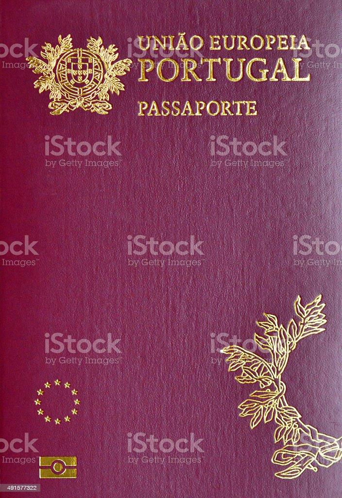 Portuguese Passport (biometric) stock photo