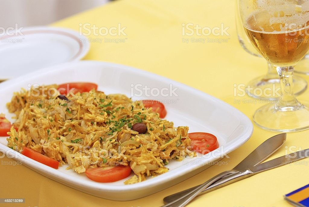 Portuguese salted cod dish royalty-free stock photo