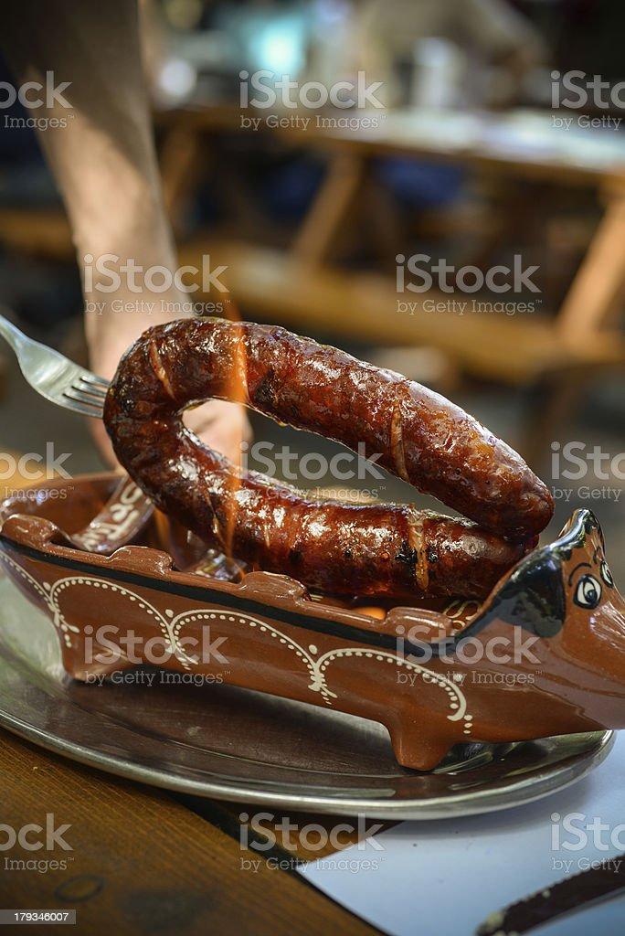 Portuguese Sausage royalty-free stock photo