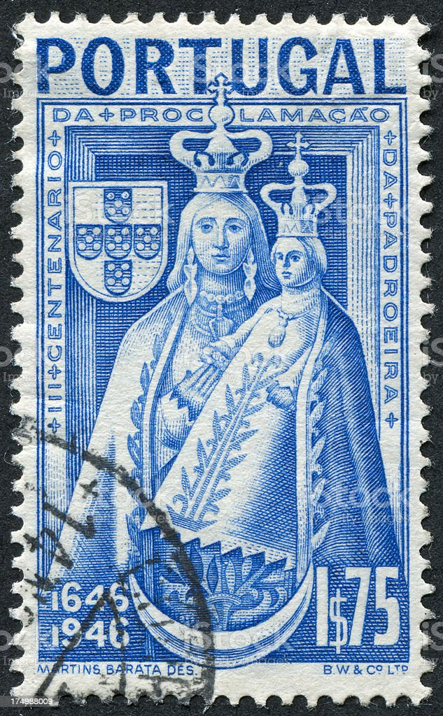 Portuguese Stamp royalty-free stock photo