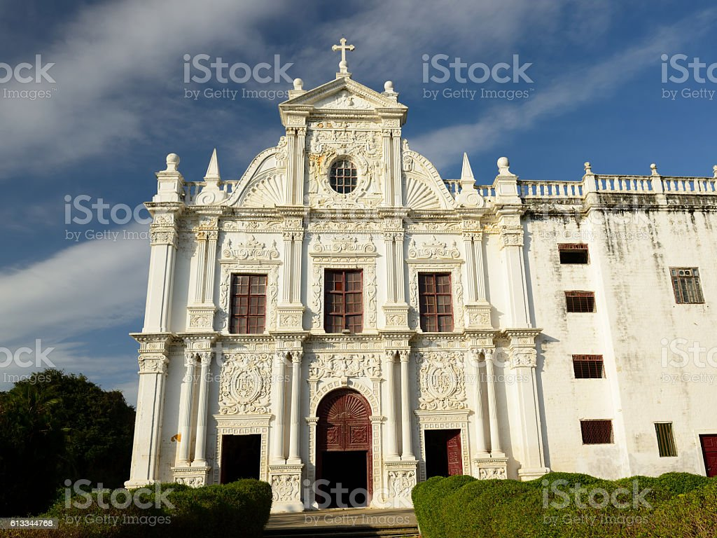 Portuguese town in Gujarat stock photo