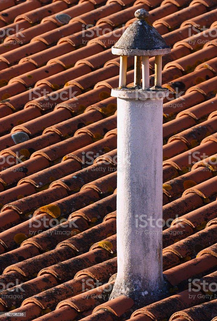Portuguese Tradional Chimney stock photo