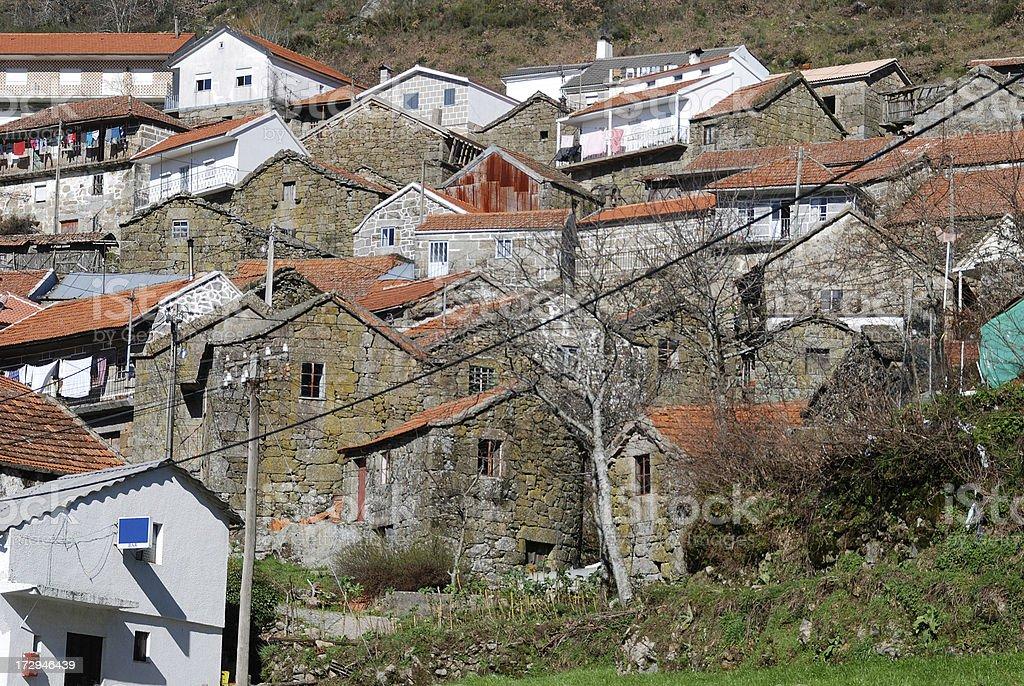 Portuguese village of Carvalhosa royalty-free stock photo