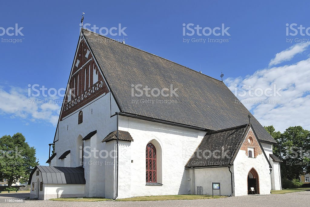 Porvoo, Finland. St. Virgin Mary Cathedral royalty-free stock photo