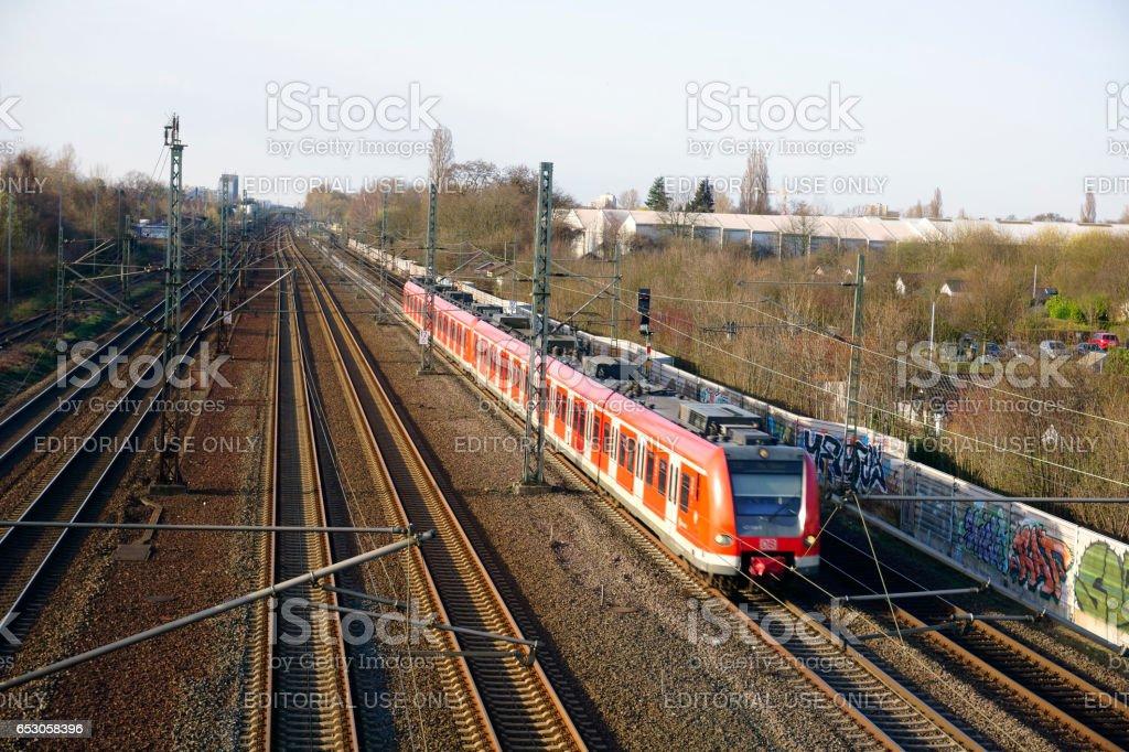 Porz / Germany - 03/12/2017 : German trains in Rhineland stock photo