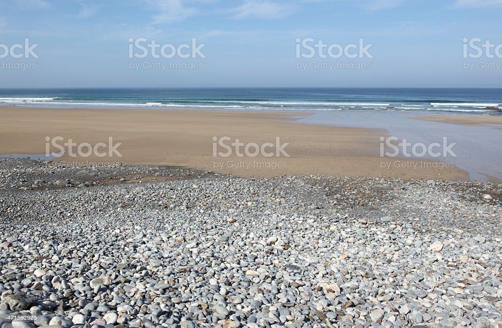 Porzh Koubou beach stock photo
