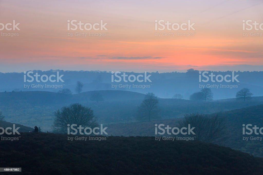 Posbank twilight hills stock photo