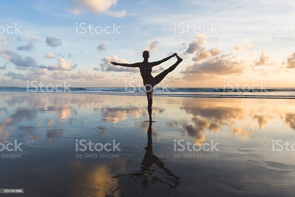pose from yoga stock photo