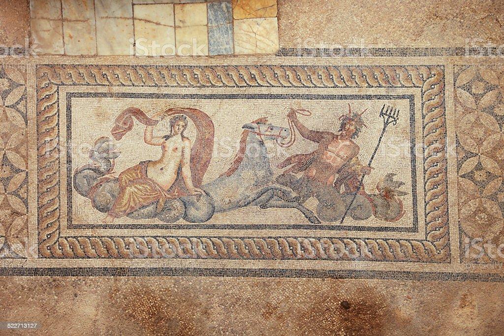 Poseidon and Amphitrite stock photo