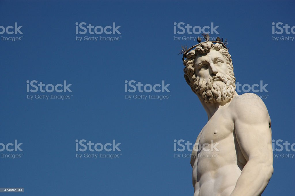 Poseidon in Florence, Italy stock photo