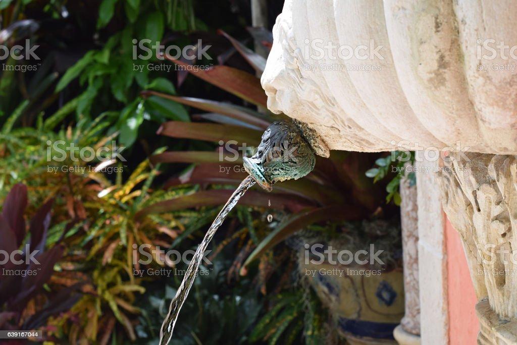Poseidon spitting stock photo