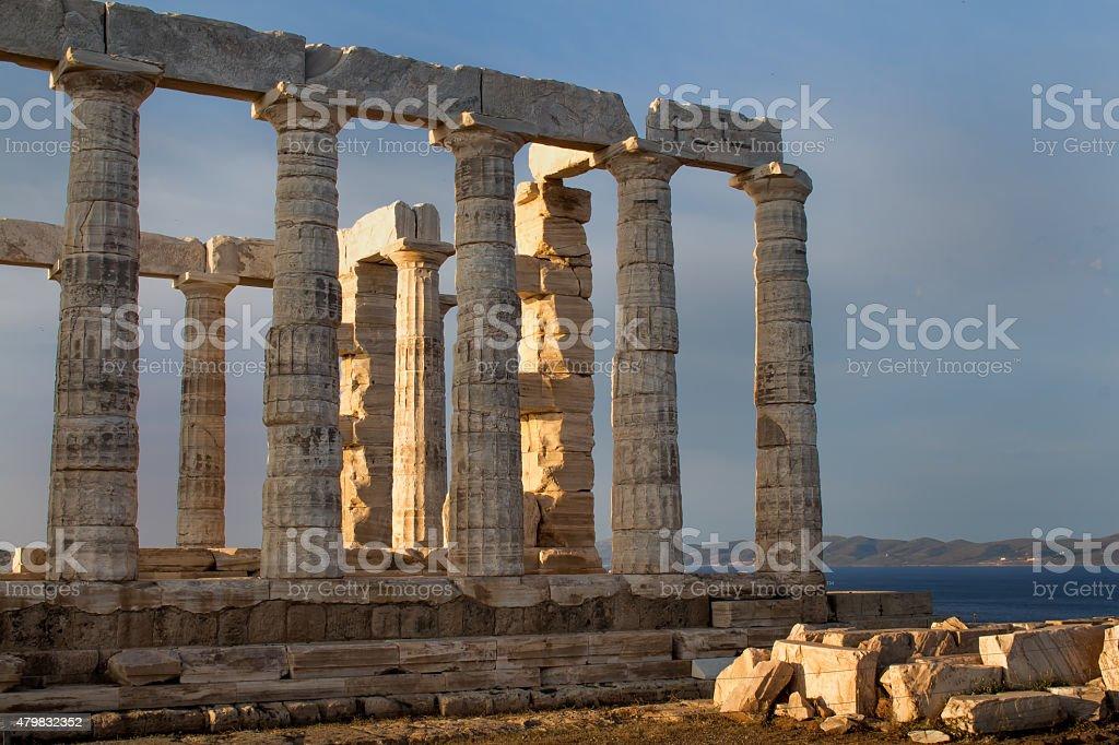 Poseidon Temple, Greece stock photo