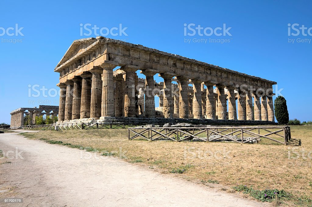 Poseidon temple (Paestum, Italy) HDR stock photo