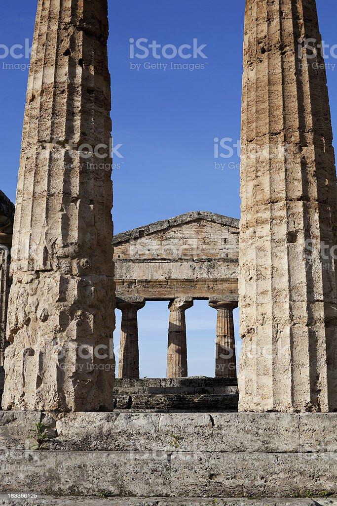Poseidon (Neptune) temple -Paestum, Italy stock photo