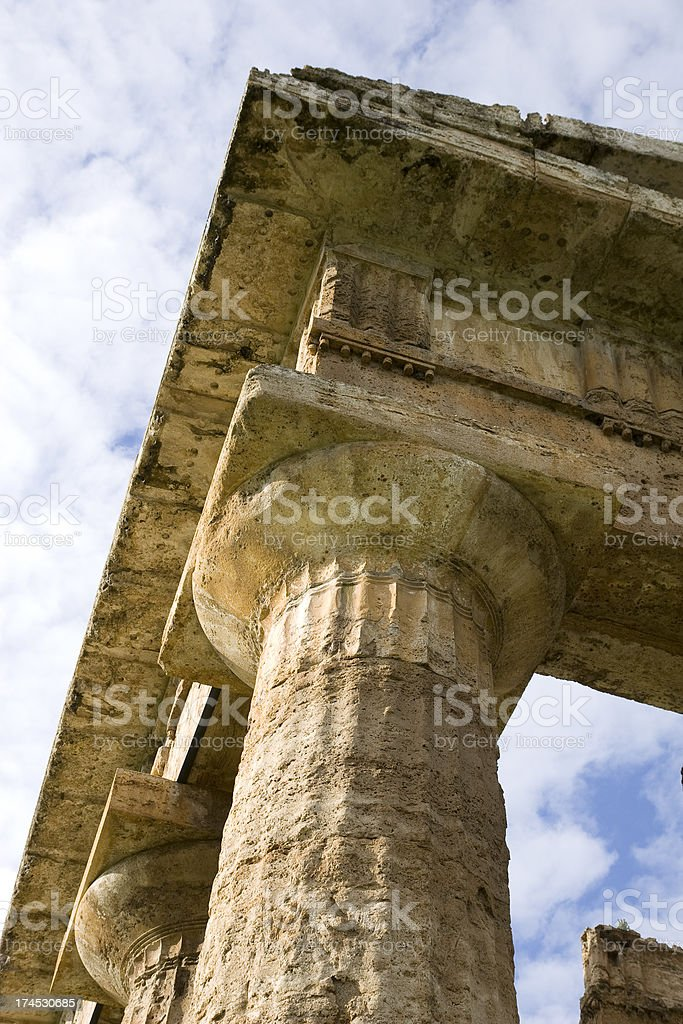 Poseidon temple (Paestum, Italy) royalty-free stock photo