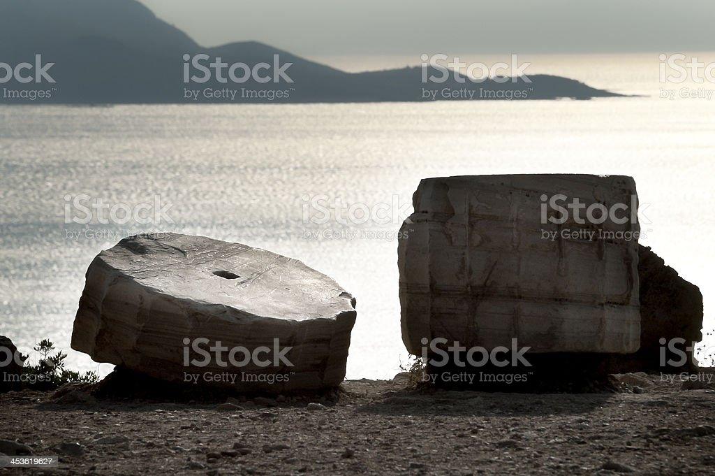 Poseidon Temple stock photo