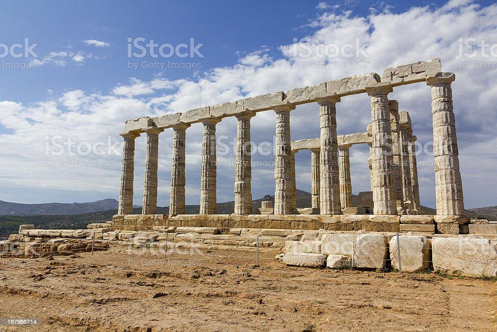 Poseidon temple, Sounio, Greece stock photo