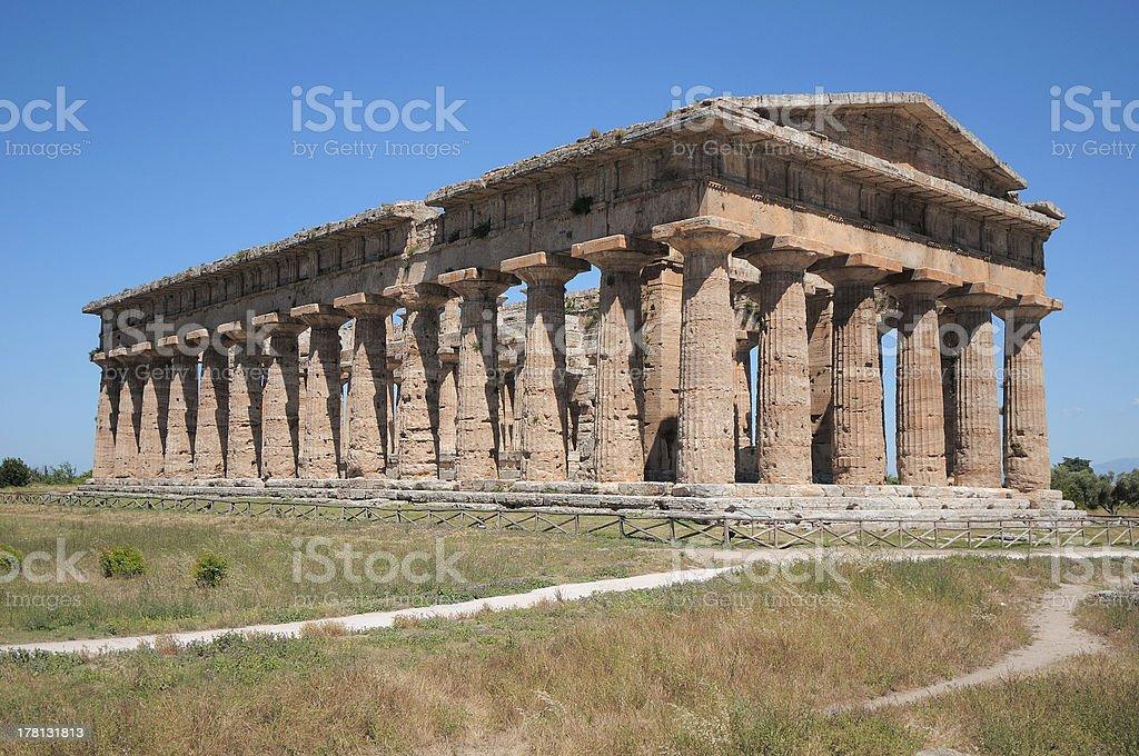 Poseidon?s Temple of Paestum (Naples) stock photo
