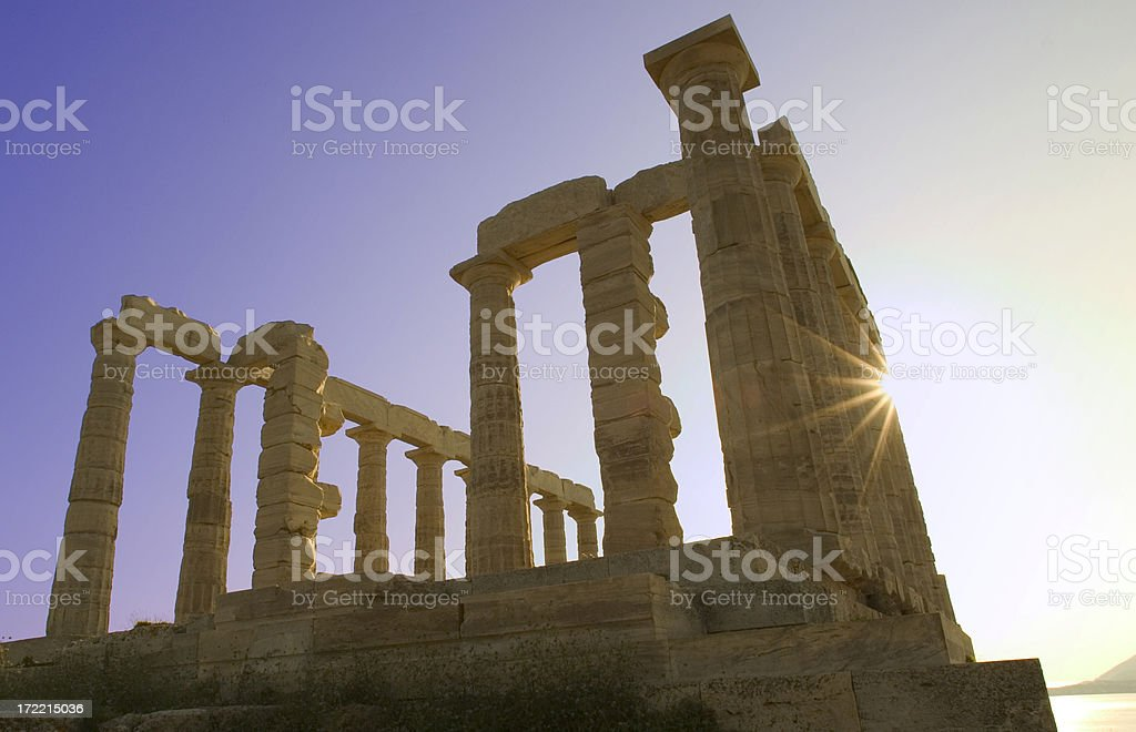 Poseidon's Temple royalty-free stock photo