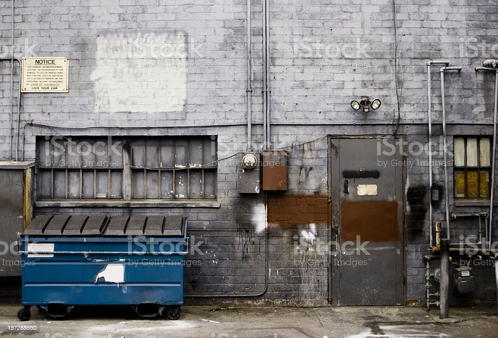 Posh alley stock photo