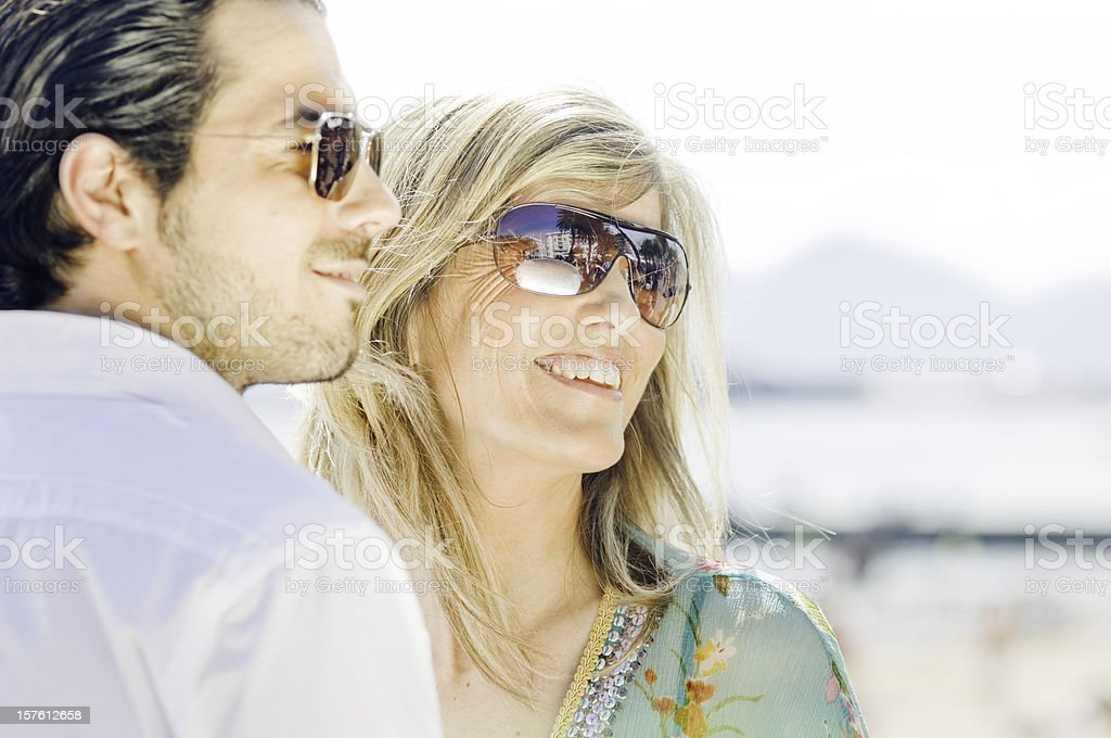 Posh couple stock photo