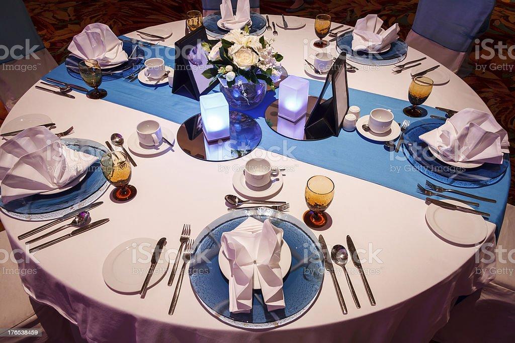 Posh Dining Table stock photo