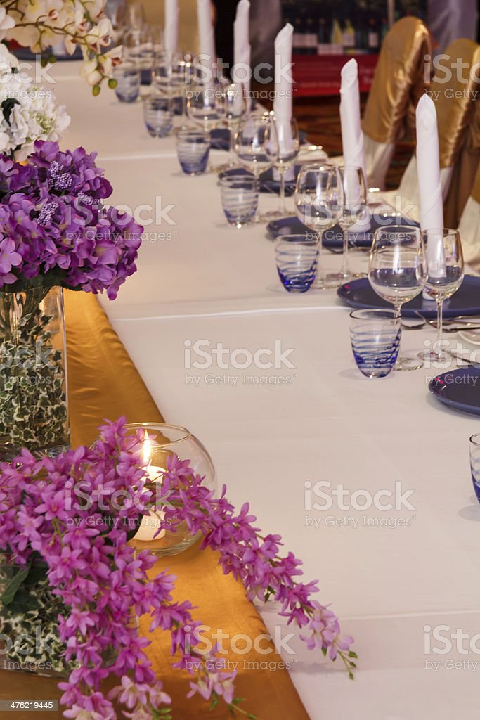 Posh Dining Table royalty-free stock photo