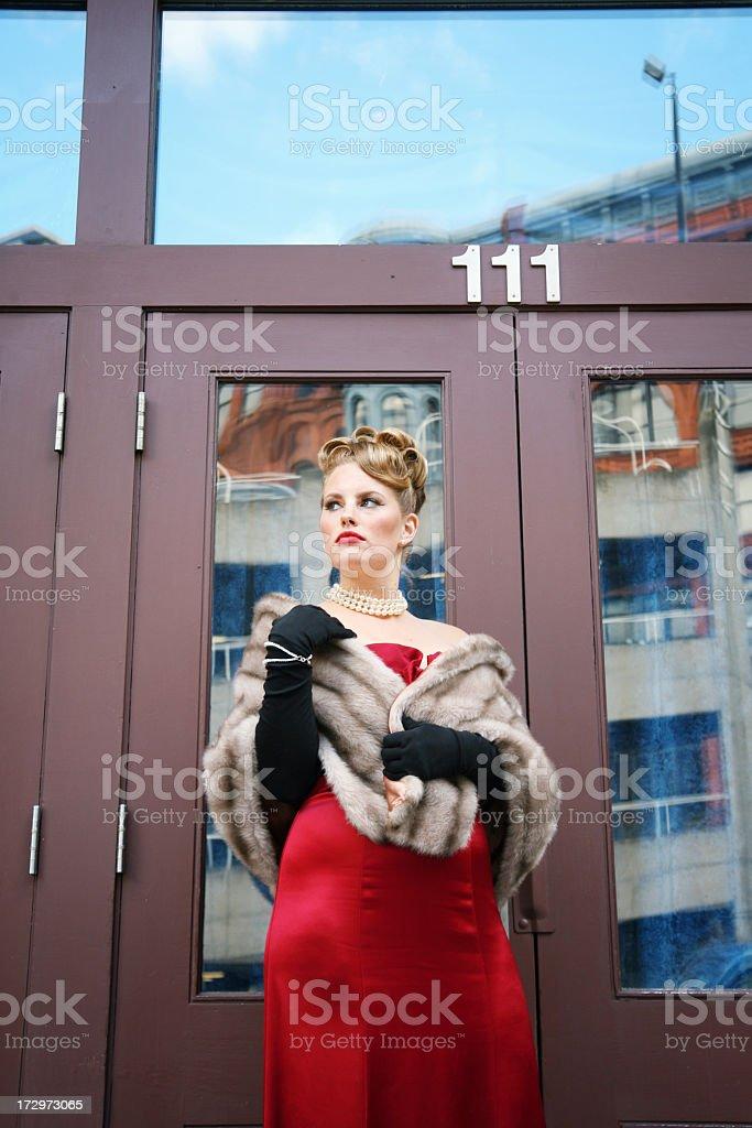 Posh lady royalty-free stock photo