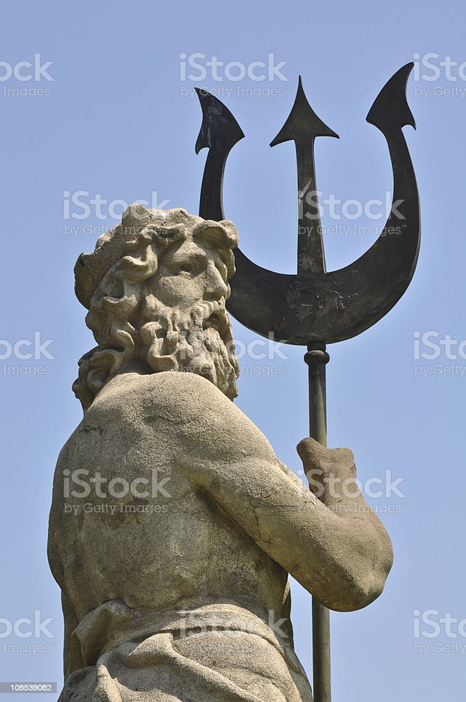 Posideon Neptune with Triton Statue royalty-free stock photo