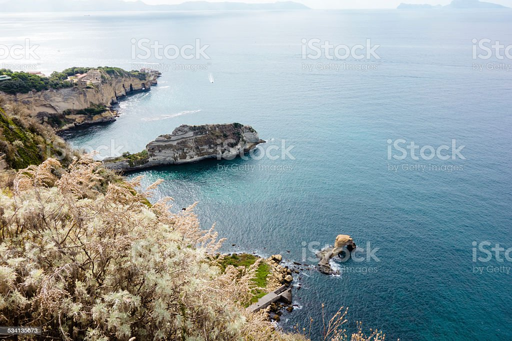 Posillipo Cape in Bay of Naples stock photo