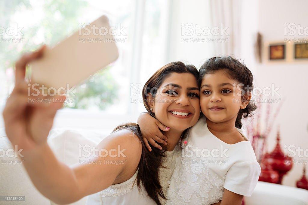 Posing for selfie stock photo