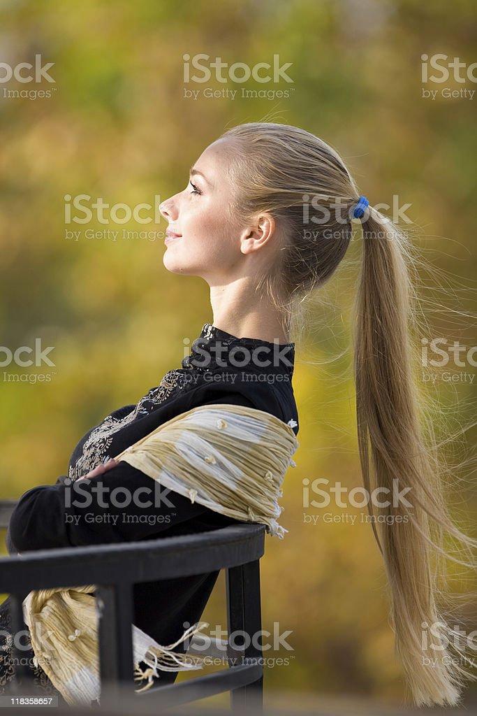 posing girl stock photo